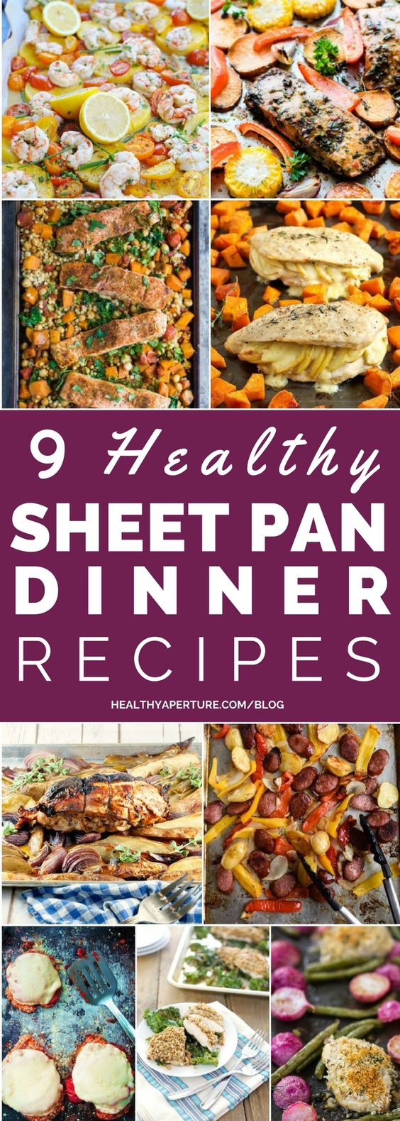 One pan dinners make cleanup a breeze! Here are 9 Healthy Sheet Pan Dinner Recipes perfect for busy nights!