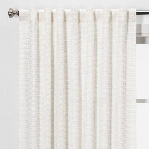 Honeycomb Light Filtering Curtain Panel White Threshold White