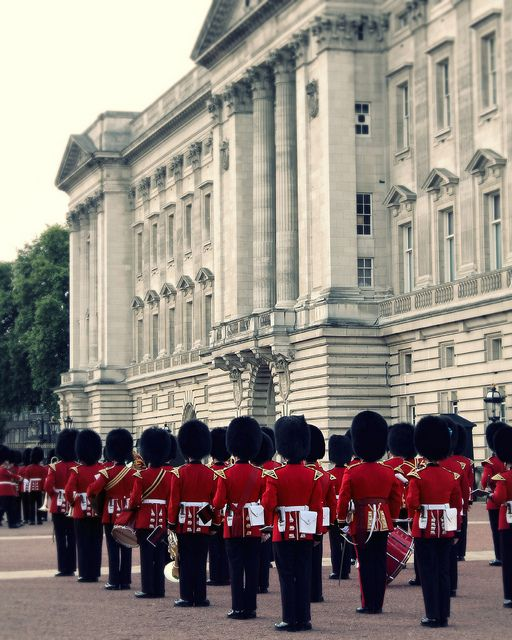Cambio de guardia en Buckingham Palace, Londres.
