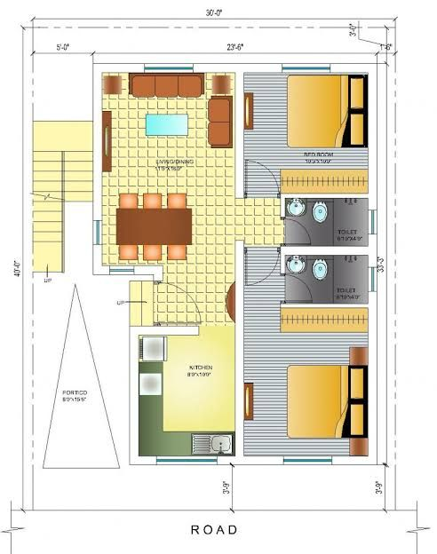 West Facing Small House Plan Google Search House Plans Small House Plan Duplex House