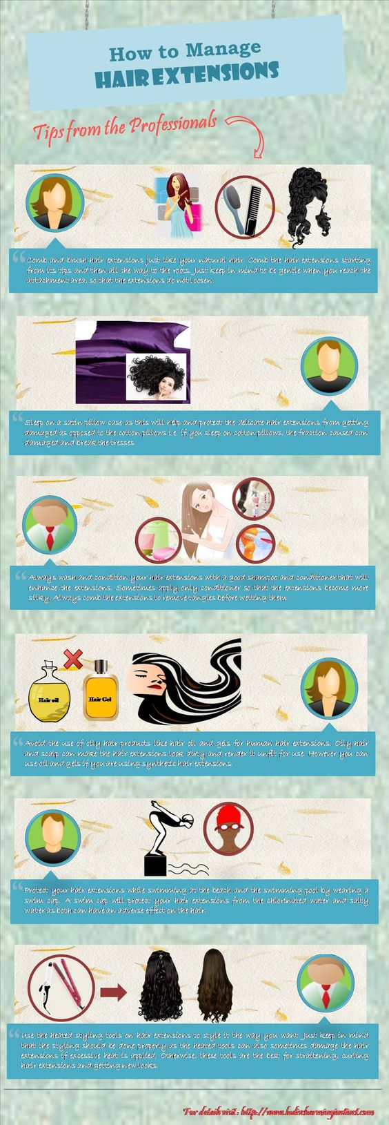 How to manage hair extensions