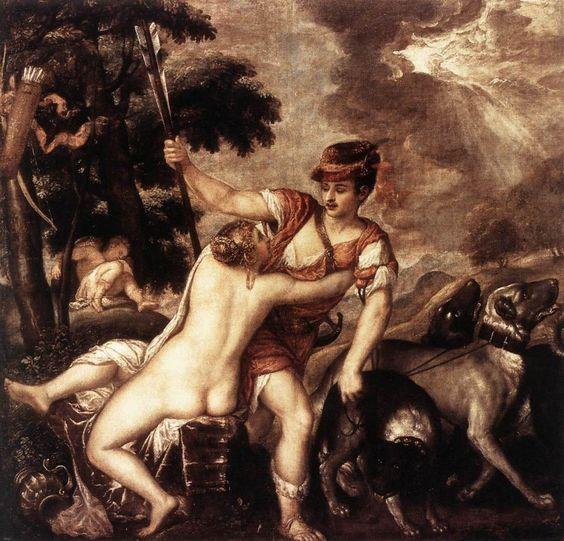 Titian - Venus and Adonis