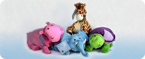 Zoobie Pets!  Love them!  http://foreverblanketsandbears.com