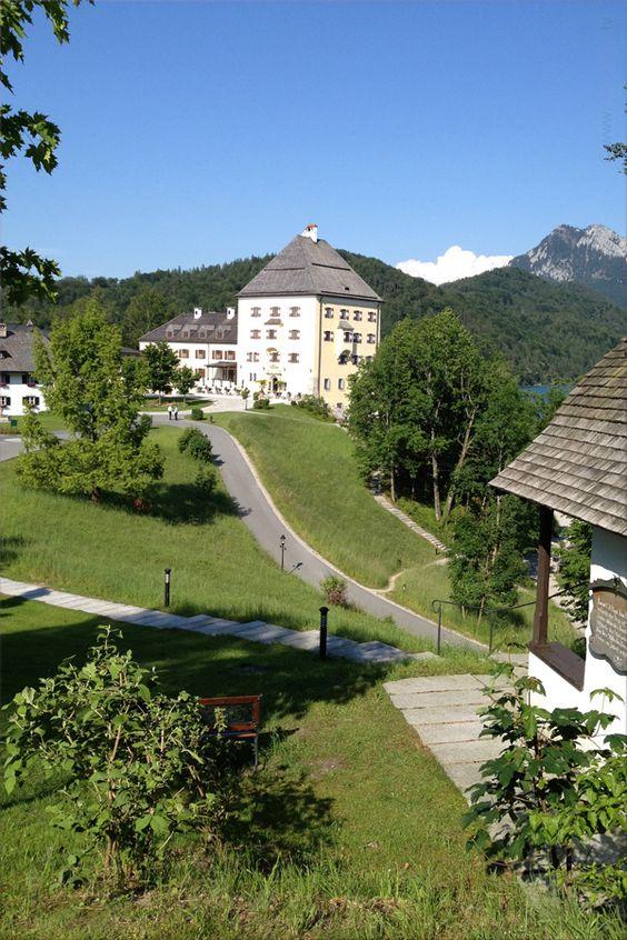 Schloss Fuschl Hotel at Fuschlsee, Salzkammergut - known from the Sissi-Movies - Luxury Collection - Hof near Salzburg, Austria/Österreich