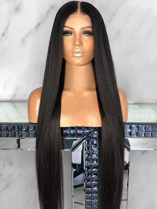 Center Parting Capless Straight Long Synthetic Wig Types Of Hair Braids Wig Hairstyles Frontal Hairstyles