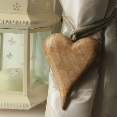 Wooden Heart Curtain Tie Backs Pair Only 163 13 00 The