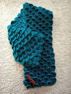 Crocodile Crochet Stitch - very cool!