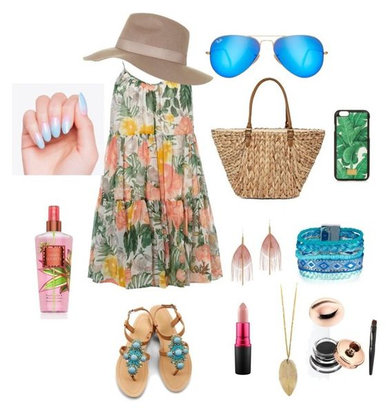 Untitled #5 by jenniejingsi on Polyvore featuring polyvore, fashion, style, Dorothy Perkins, OLIVIA MILLER, Straw Studios, Serefina, Topshop, Ray-Ban, Dolce&Gabbana, MAC Cosmetics and clothing