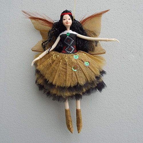 Nz Christmas Wahine Maori Woman Fairy Doll From Shopnz Com Fairy Dolls Christmas Fairy Ornament Decor