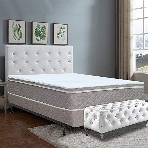 Mattress Comfort Mattress And Split Box Spring Foundations Queen Size Off White Comfort Mattress Mattress Plush Mattress