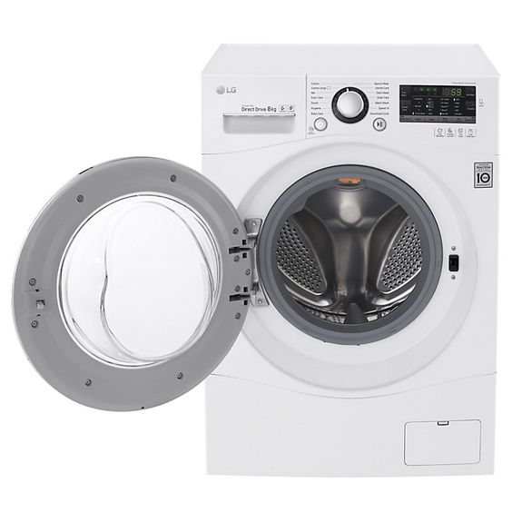 Buy LG FH4A8TDN2 Freestanding Washing Machine, 8kg Load, A    Energy Rating, White Online at johnlewis.com
