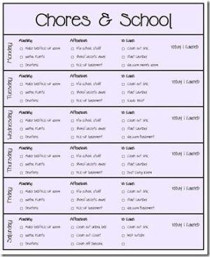 Chore Charts by tanisha