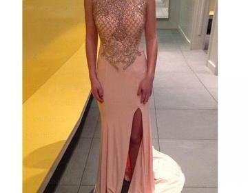 long prom dress, cha...