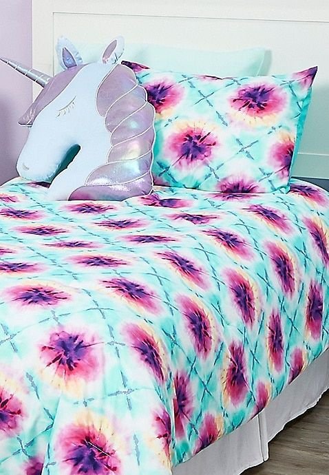 Tie Dye 5 Piece Bed In A Bag Twin Size Justice Bed In A Bag