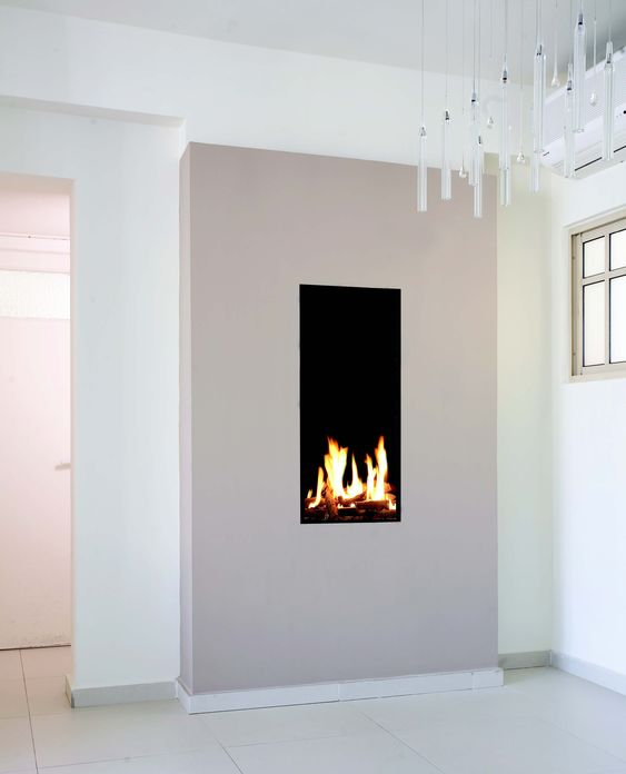 Tall Amp Narrow Gas Fireplace Created By Ortal Fireplace