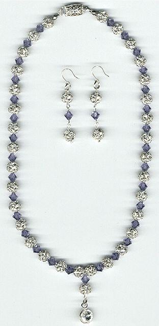 Item #RH405 set, rhinestone and crystal