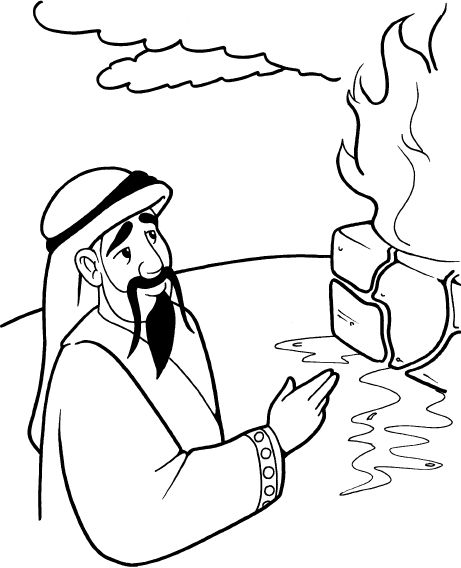 Baal Of The Bible Coloring Pages 99 Elijah Defeats The Elijah And The Prophets Of Baal Coloring Page