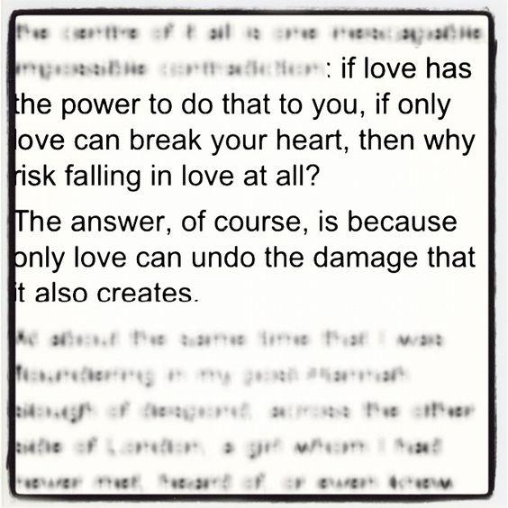 Love/heartbreak