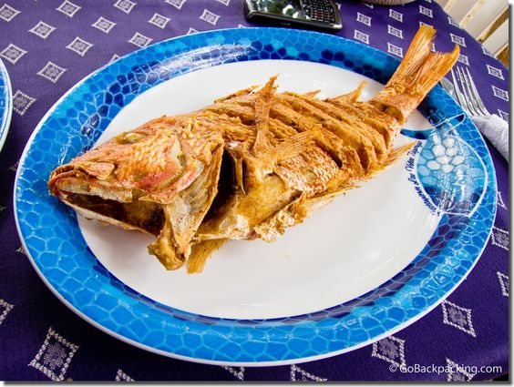 Fried Pargo (Red Snapper). Location: Taganga