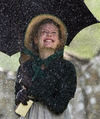 Emma in the rain, Romola Garai, 2009: