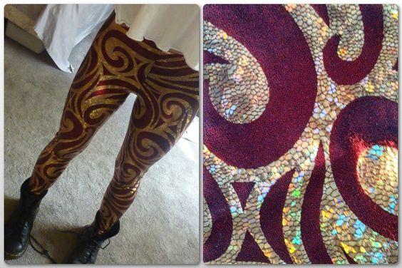 Black Milk Clothing - Golden Dragon Leggings