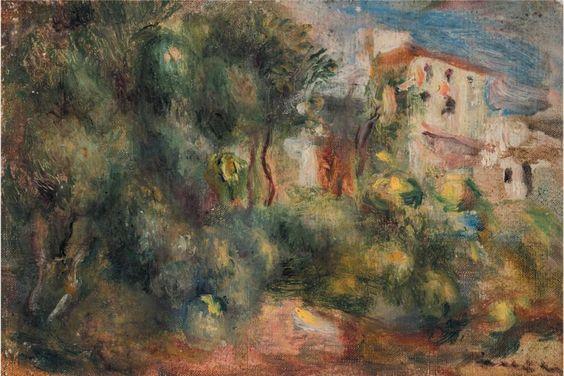 Pierre auguste renoir 1841 1919 cagnes le jardin de for Les jardins de la villa porte maillot