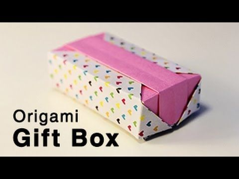 Origami long box lid with handle box lids origami boxes and origami gift box with lid tutorial advanced sciox Gallery