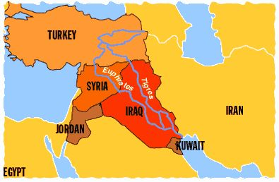 Euphrates River Iraq Rivers Israel and Jerusalem