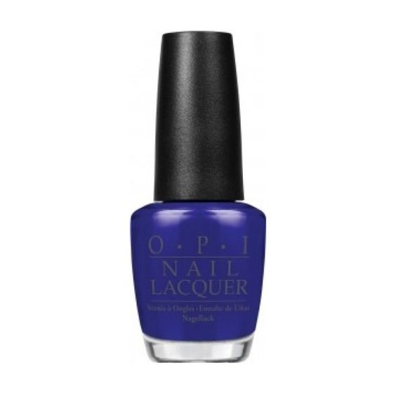 """When the warmer weather hits, I head straight for bright blue hues."" – Kristin Auble, Research Editor OPI Nail Lacquer in My Car has Navy-gation, $10, ulta.com.-Wmag"