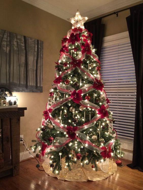 Best Christmas Tree Decor Ideas Inspirations For 2019 Hike N Dip Floral Christmas Tree Cool Christmas Trees Creative Christmas Trees
