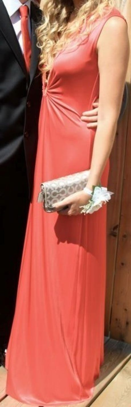 Available @ TrendTrunk.com BCBG Red Maxi Dress with Deep Neckline. By BCBG Max Azria. Only $80.00!