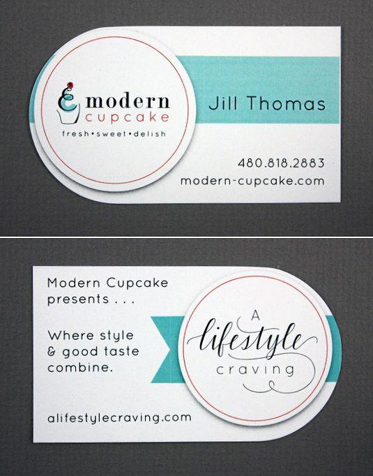 Modern Cupcake / Jill Thomas  modern-cupcake.com: Visit Cards, Business Cards, Bussiness Cards, Biz Cards, Cards Brandings, Buissnes Card, Business Cars