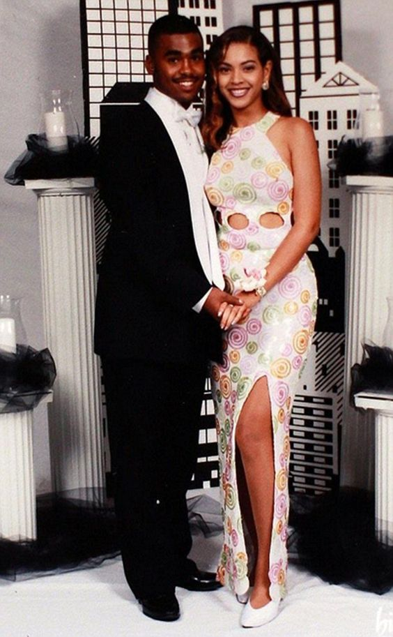 Lyndall Locke and Beyoncé at his school prom in 1997. He dated the singer for a decade and said the 'simple girl from Houston' rapidly became a 'control freak':