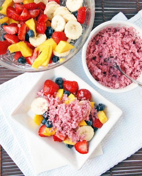 Strawberry cream granita- looks so easy to make too | SWEETS ...