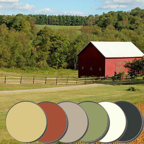 Paint colors kitchen colors and paint palettes on pinterest - Country blue color scheme ...