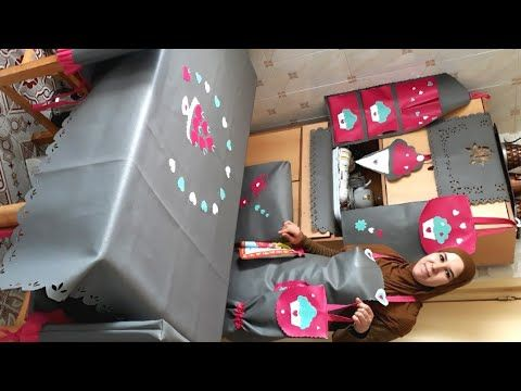 طقم مطبخ بالسكاي طريقة تلصيق الرشمات في جلد السكاي Youtube Gift Wrapping Decor Holiday Decor