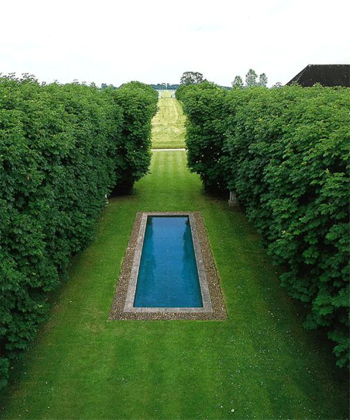 David Hicks' garden at The Grove, Oxfordshire UK