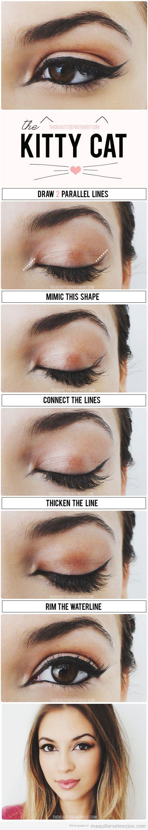 Tutorial aprender paso a paso a dibujar línea del ojo con rabillo
