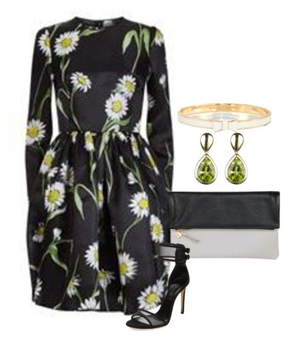 """""""silk daisy"""" by shoesclothesbagsaddict ❤ liked on Polyvore featuring Dolce&Gabbana, Clare V., Casadei, The Unbranded Brand and Kate Spade"""