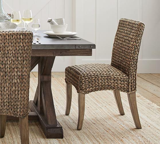 Seagrass Side Chair, Havana Dark - Woven Dining Chairs ...