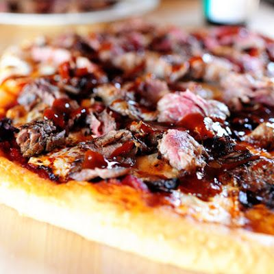 Steakhouse Pizza - Pioneer Woman @keyingredient #cheese