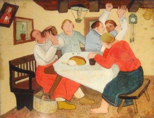 Bilo Nas Je 5 Vu Kleti Krsto Hegedusic 1927 Art Naive Art Naive