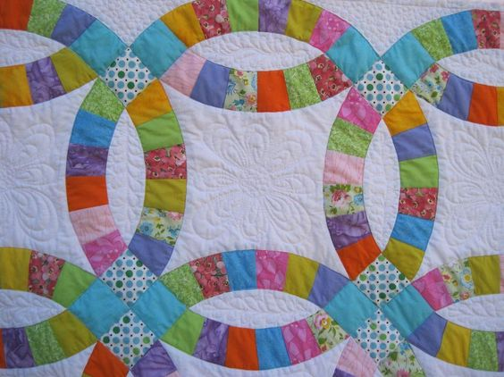 Double Wedding Ring Quilt by Groovyiaia   Quilting Ideas, Quilting Big Projects on a Small Machine