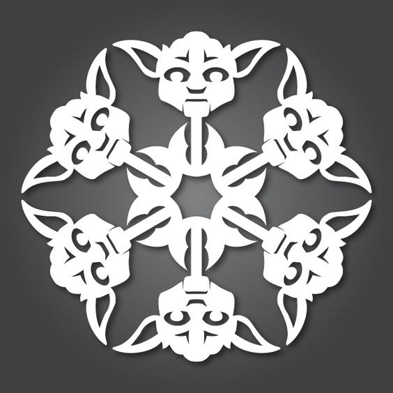 24 free Star Wars Snowflake patterns from Anthony Herrera.