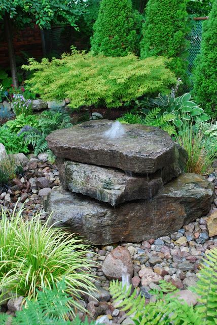 1000 Ideas About Rock Fountain On Pinterest Garden