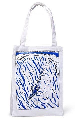 Raymond Pettibon Surfer Tote Bag