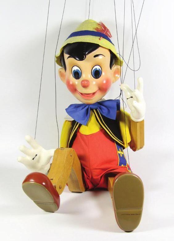 Huge Walt Disney Pinocchio Marionette Puppet Rare Edition