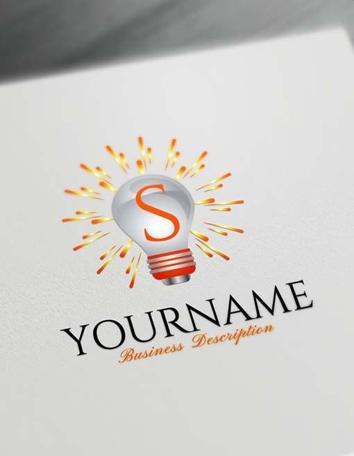 Create Your Own Sun Light Idea Logo With Free Logo Maker Logo Maker Free Logo Free Logo Creator