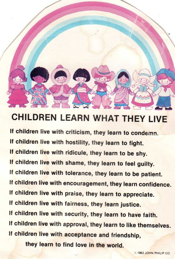 Children Learn What They Live -- Complete version.