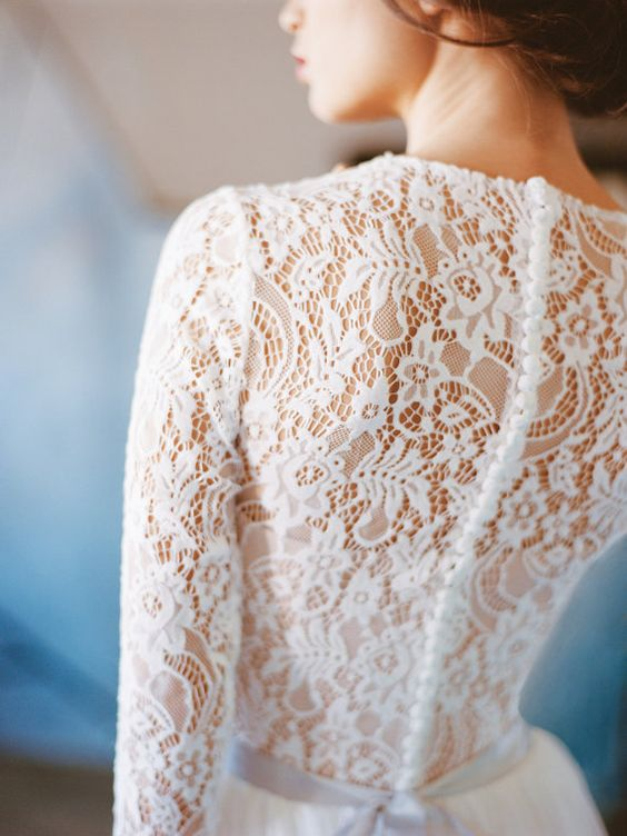 Orion // Lace wedding dress - Long sleeve wedding dress - Wedding gown - Chiffon…